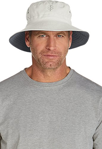Coolibar UPF 50+ Men's Reversible Bucket Hat - Sun (Reversible Uv Protection Hat)