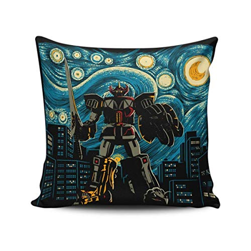 Cellcardphone Starry Megazord Throw Pillow Cover 18x18 Inch -