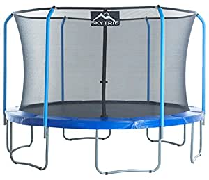 """SKYTRIC Trampoline with Top Ring Enclosure System equipped with the """"EASY ASSEMBLE FEATURE"""", 11-Feet"""