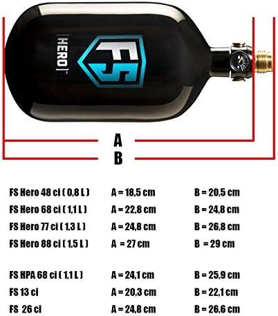First Strike FS Hero System 300 bar 1,3 Liter 77ci schwarz