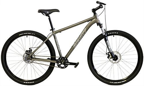 Gravity 27Five FS 27.5 650b Single Speed Disc Brakes Mountain Bike (Silver, 13in)