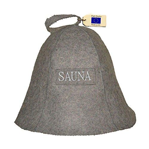 Allforsauna Sauna Hat Russian Banya Cap 100% Wool Felt Modern Lightweight Head Protection for Men and Women | with Logo SAUNA