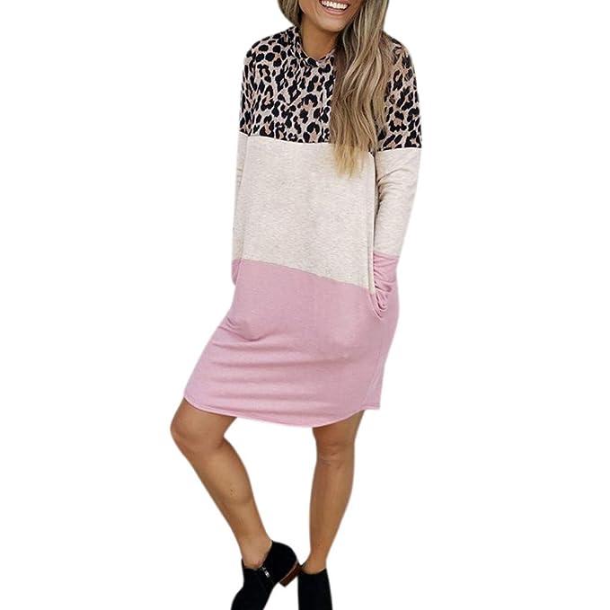 93a6772ff6ba0d Image Unavailable. Image not available for. Color: Pandaie-Womens Dresses,  Women Casual Leopard Long ...