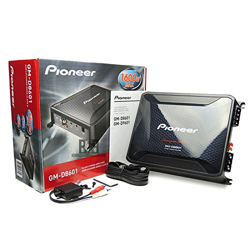 Class Mono Amp (Pioneer GM-D8601 Mono 1600W Class-D Car Amp, with Bass Boost Remote)