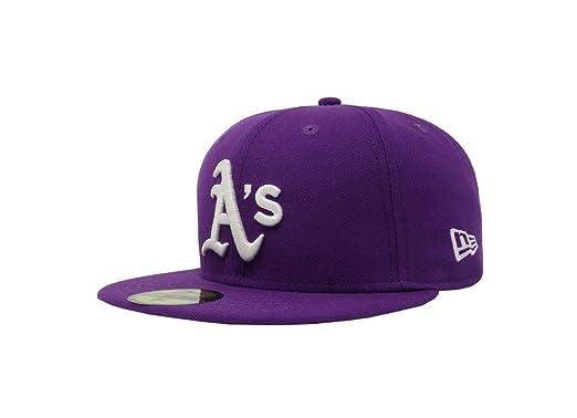 size 40 0d25d 5fb73 New Era 59Fifty Hat MLB Oakland Athletics Purple Fitted Headwear Cap (6 7 8