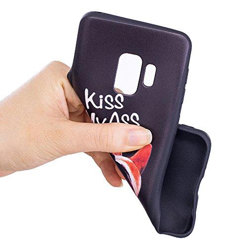 Grandcaser Funda para Samsung Galaxy S9,Ultra Fina Slim Flexible Duradera Protectora Funda Estuche de Silicona TPU Gel Original Goma Grip Bumper Design Carcasa - Búho marrón Culo