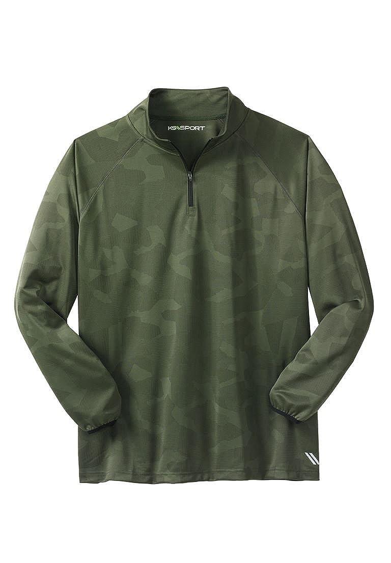 Ks Sport Men's Big & Tall Forcecool 1/4-Zip Track Jacket