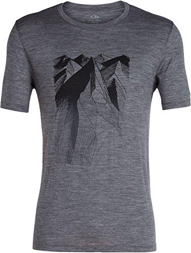 ed8c32fe4b Icebreaker Merino Men's Tech Lite Short Sleeve Crewe Geometry of Geology  Athletic T Shirts, Small