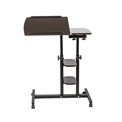 Astonishing Boju Black Mobile Laptop Pc Table Desk Stand Wood For Sofa Bed Beside Table On Wheels Height Adjustable Over Bed Table Workstation For Couch Bedroom Squirreltailoven Fun Painted Chair Ideas Images Squirreltailovenorg