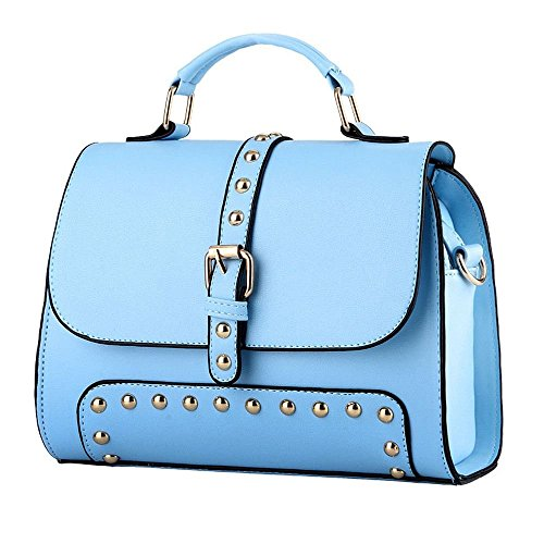 Desklets Women's Simple Style Buckle Tote Bags Top Handle - Froday Sales Black