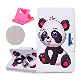 Katech 8 Inch Universal Tablet Case, Premium Flip Wallet PU Leather Stand Case Beautiful Pattern Foldable Shock Absorption Protective Cover with 3 Card Slots + 1 × Free Cell Phone Holder Stand