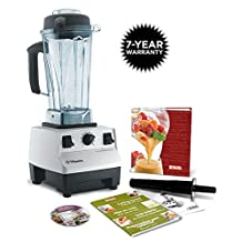 Vitamix Super Durable Total Nutrition Centre Quick, Versatile and Easy to Use Equipment with 7 YEARS WARRANTY (chop, cream, blend, heat, grind, churn, and more in a single machine) - White