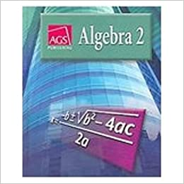 ALGEBRA 2 WORKBOOK ANSWER KEY: AGS Secondary: 9780785435464: Amazon