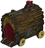 Gift Craft 706466 Mini Enchanted Forest Wagon Outdoor Sculptures For Sale