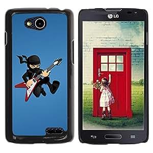 Planetar® ( Ninja Rock star ) LG OPTIMUS L90 / D415 Fundas Cover Cubre Hard Case Cover