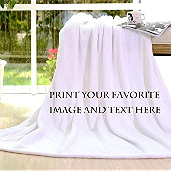 5cf6f248d Personalized Customize Throw Blanket bed blanket Made Custom from Your  Photo INTO Soft Fabric Velvet Plush Fleece Keepsake Gift Personalized Your  ...