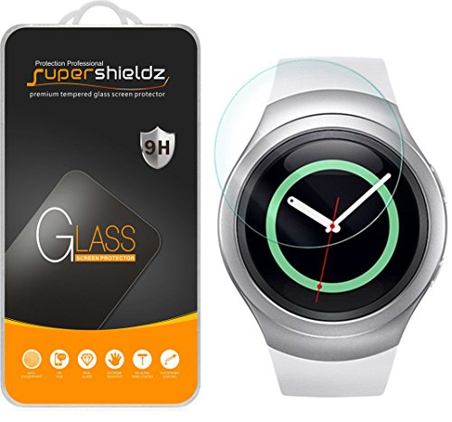 Samsung Gear S2 Tempered Glass Screen Protector, Supershieldz Anti-Scratch, Anti-Fingerprint, Bubble Free, Lifetime Replacement Warranty