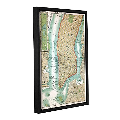 ArtWall 1ame014a3248f American School's Antique Map of Lower Manhattan and Central Park,1892