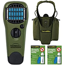 Thermacell Camper's Kit : Mosquito Repellent Appliance with Holster and 2 R-1 Refill Packs (Olive)