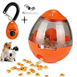 FAOUGESS Dog Food Dispenser Ball Toy,Pet Increase IQ Slow Feeder Interactive Treat Dispensing Ball,Tumbler Design Training Puzzle Shaking Toys for Dogs & Cats (Orange)