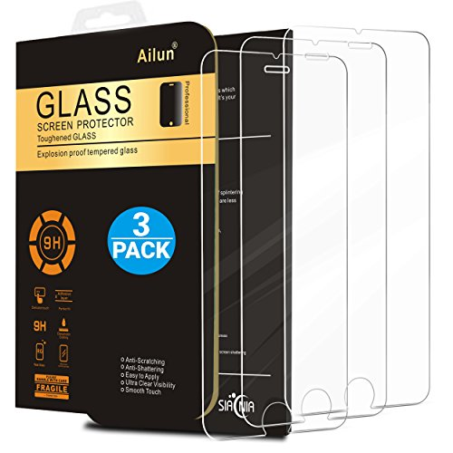 iPhone 7 Plus Screen Protector,[5.5inch][3Pack]by Ailun,2.5D Edge Tempered Glass for iPhone 7...