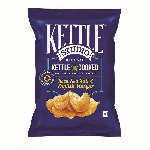 Kettle Studio Rock Sea Salt and English Vinegar, (Pack of 5)