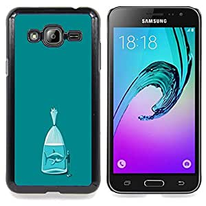 Stuss Case / Funda Carcasa protectora - Tiburón del trullo Fish Metáfora Significado - Samsung Galaxy J3 GSM-J300