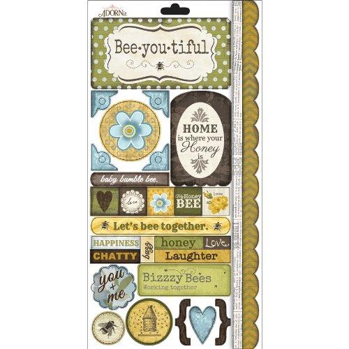Bumble Cardstock Sticker-Sweet As Honey