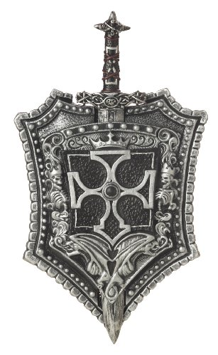 California Costumes Crusader Sword & Shield,Black/Silver,One