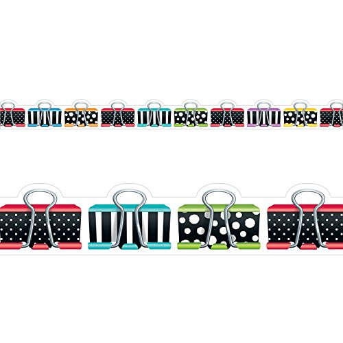 Bright Clip - Creative Teaching Press Bold & Bright Binder Clips Border (8348)