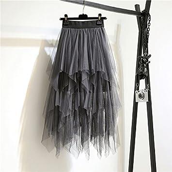 Vestido negro con mallas gris