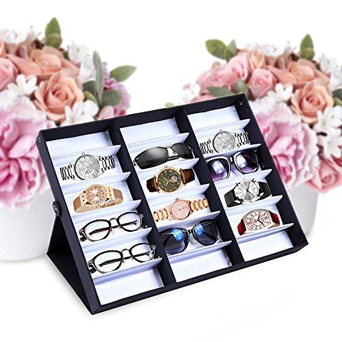 Sunglass Eyewear Case Organizer Storage Tray Display Box Rack Eye Wear Watches