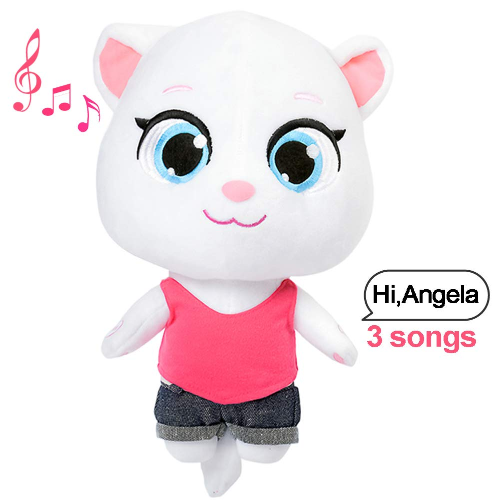 Talking Tom Cat Plush Toy Angela Repeats What You Say Electronic Cat Plush  for Boys Girls Baby Gift Cat Toys for Kids Angela Sounds from APP Talk Back