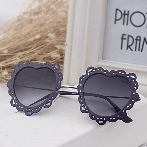 X131 de de sol de sol Gafas Gafas Color Moda Redondas Personalizadas 11 Forma 10 Gafas corazón en de Mujer Coreana xwg8qaXqI