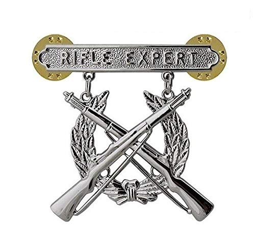 - USMC US Marine Corps Rifle Qualification Expert Shooting Badge PIN