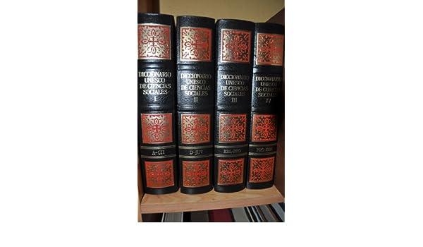 Diccionario Unesco de Ciencias Sociales: Amazon.es: VV. AA.: Libros