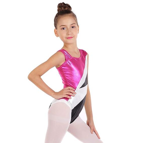 Amazon.com: Traje de baile, sin mangas, para niñas, sin ...