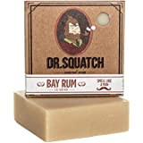 Bay Rum Soap by Dr. Squatch – Men's Naturally Fresh Scented Natural Bar Soap with Bay Rum, Kaolin Clay, Shea Butter – Organic