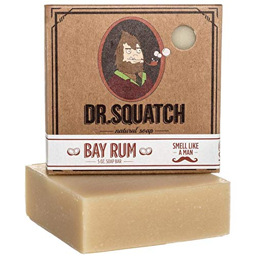 Bay Rum Soap by Dr. Squatch - Men's Naturally Fresh Scented Natural Bar Soap with Bay Rum, Kaolin Clay, Shea Butter - Organic Handmade in USA