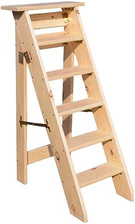 Bseack_store Escalera Escalera de Espiga, Escalera Plegable de 6 Lados de Madera Maciza Plegable para ático Ascender (Color : Color Madera): Amazon.es: Hogar