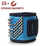 Magnetic Wristband, BLENDX Magnetic Wrist Band Tool Belt with Super Strong Magnets for Holding Screws, Nails, Drill Bits Father Day Gift Tool Band for him, men, handyman, Husband, Father, Guys, DIY-er