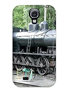 AnnaSanders Scratch-free Phone Case For Galaxy S4- Retail Packaging - Steam Locomotive Train Vehicles Cars Other