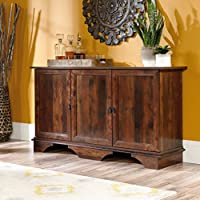 Sideboard Buffet Storage Cabinet, Adjustable Shelf Behind Each Door, Perfect for Kitcher or Dining Room Furniture, Durable and Sturdy Engineered Wood, Curado Cherry Finish + Expert Guide