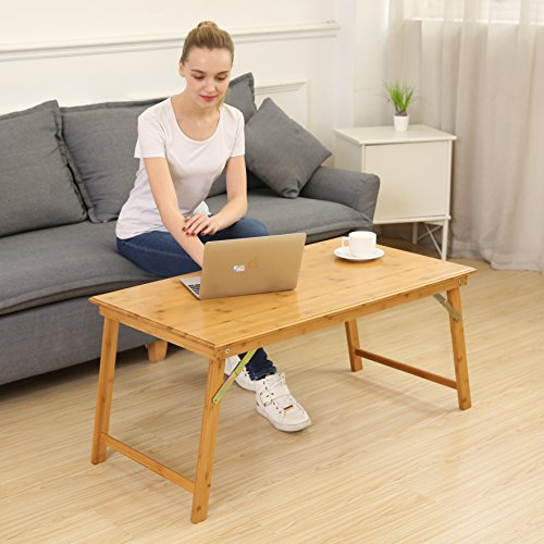 UNICOO Bamboo Rectangular Folding Table (Table Only) Bamboo Coffee Table