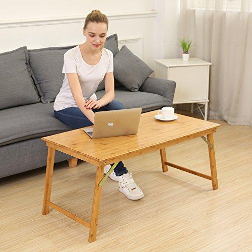 UNICOO Bamboo Rectangular Folding Table, Coffee Table, Picni