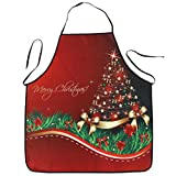 Hot Sale!! Christmas Exquisite Apron,Lelili Christmas Style Cartoon Printed Waterproof Kitchen Dinner Apron (C)