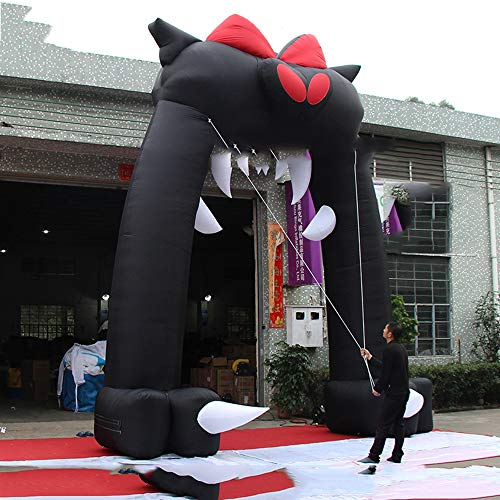 XSMP Halloween Decoration 5X6 M Inflatable Black cat Head Arch for Party Show hot Sale Scary Inflatable extrance for Halloween -
