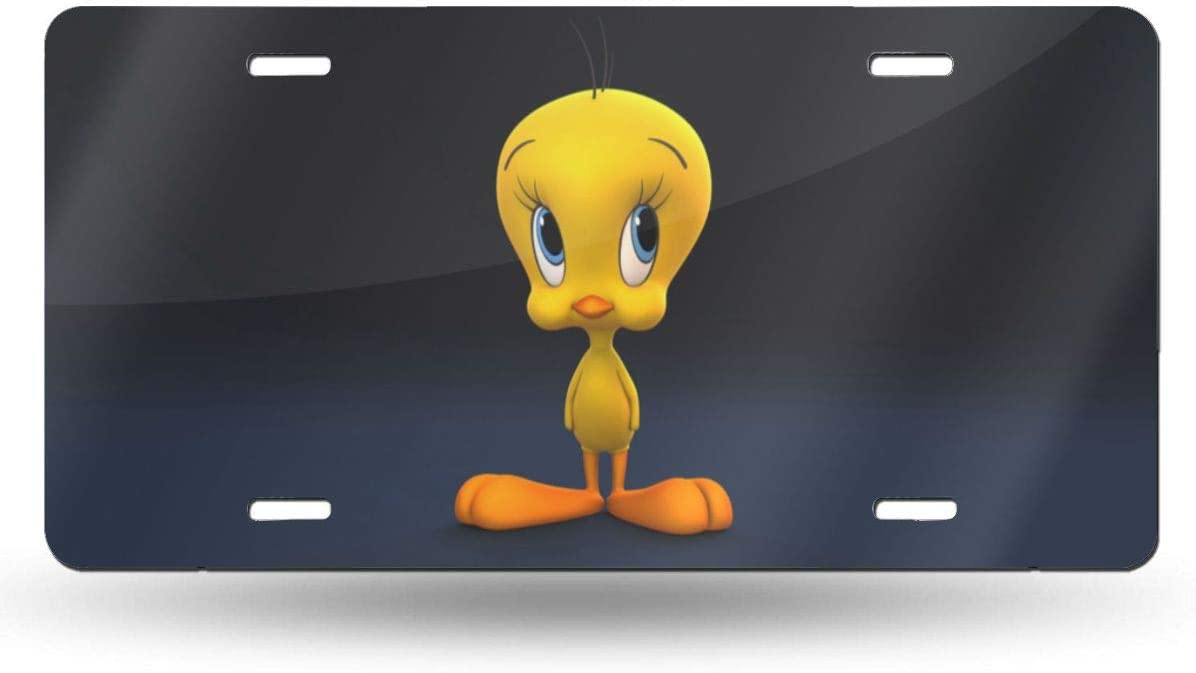 D0zopazkw License Plate Cover Funny License Plate 12 X 6 Tweety Bird