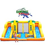 Blast Zone Rainforest Rapids Inflatable Bouncer with Slides by Blast Zone offers
