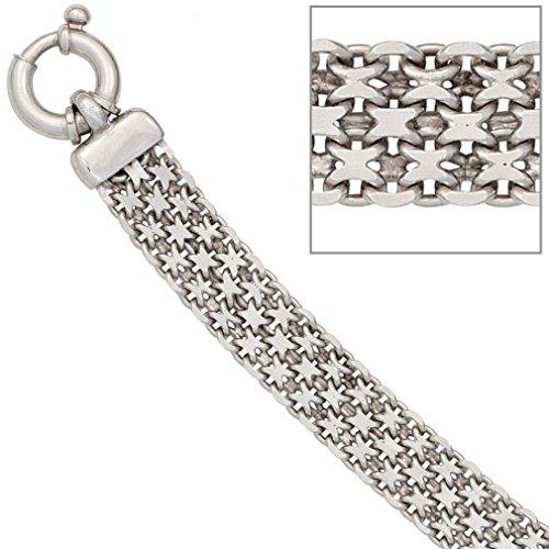 Bracelet femmes argent rhodium longueur 20 cm largeur 1,16 cm profondeur 0,24 cm